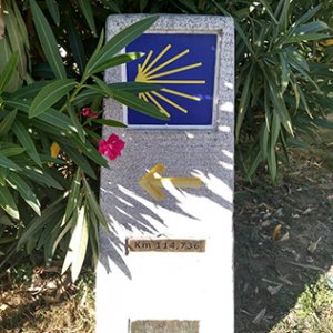 The first kilometre marker: only 115 kms to go!